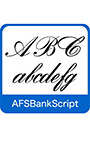 AFS復刻欧文フォント AFSBankScript