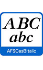AFS復刻欧文フォント AFSCasBItalic