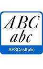 AFS復刻欧文フォント AFSCasItalic