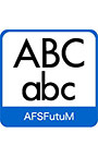 AFS復刻欧文フォント AFSFutuM