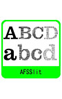 AFSSlit (スリット入りフォント 4 書体パック)