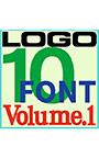 ロゴ製作用 素材欧文フォント 10書体セット