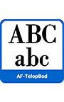 テロップ専用復刻欧文AF―TelopBod