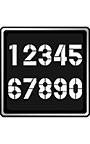 テロップ専用数字フォント AF―STENCIL―E