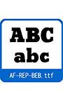 復刻欧文 AF―REP―BEB