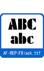 復刻欧文 AF―REP―Fblack