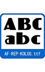 復刻欧文 AF―REP―KOLOS