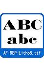 復刻欧文 AF―REP―LithoB