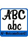 ウエルカムボード用欧文 AF―WelcomeBoard1
