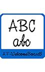 ウエルカムボード用欧文 AF―WelcomeBoard3