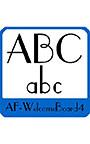 ウエルカムボード用欧文 AF―WelcomeBoard4