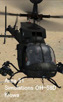 Area 51 Simulations OH-58D Kiowa (カイオワ)