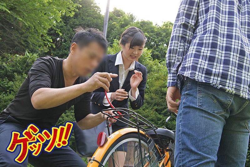 自転車通勤するタイトスカートOLを野外軟禁!自転車拘束痴漢で強制アクメ!!快楽で痺れたマ●コにヤリ捨て中出し!! サンプル画像 No.8
