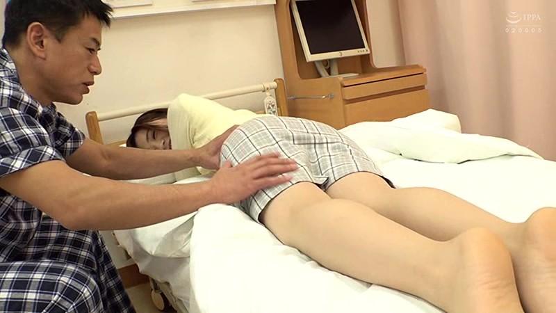 お見舞いNTR!!隣に入院中の夫がいる状況で迫られた人妻のさびしい身体は理性が効かずに発情する…!? サンプル画像 No.5