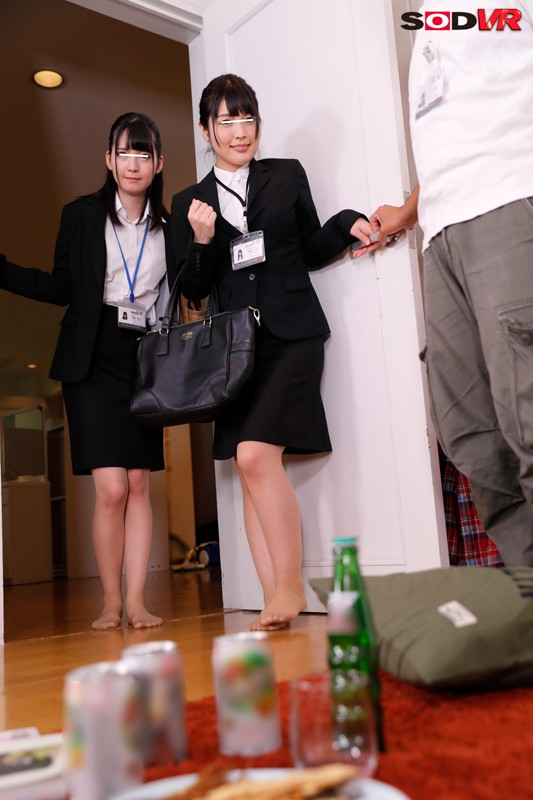 【VR】SOD女子社員が僕の部屋にやってきた!せっかくなので宅飲みしながら一緒に出演作を見てたらHなムードになってきて…まさかの3P!やっぱりSOD女子社員はエロかった! サンプル画像 No.4