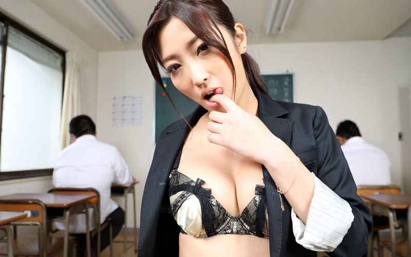 【VR】寸止め女教師ザーメン狩りver.VR…でも授業中に生はマズくない? 水川スミレ サンプル画像 No.5