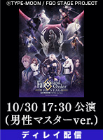 【10/30 17:30】ディレイ配信 「Fate/Grand Order THE STAGE-冠位時間神殿ソロモン-」男性マスター