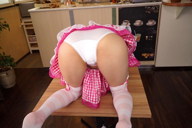 【VR】秋葉原で話題!!本番禁止のパンツ見せカフェで生中出しSEX!! ~メイドの禁断聖域で精液大放出しちゃいました~ 双葉良香 サンプル画像 No.2