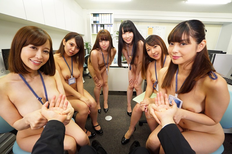 【VR】全裸オフィス 裸の女子社員に囲まれて… サンプル画像 No.5