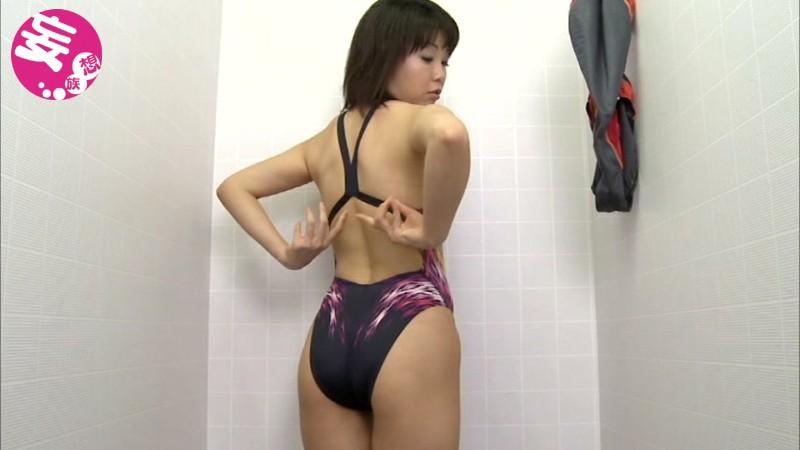スイミングスクール通いで試着する競泳水着からハミ出る豊満な女体とデカ尻盗撮!6 サンプル画像  No.2