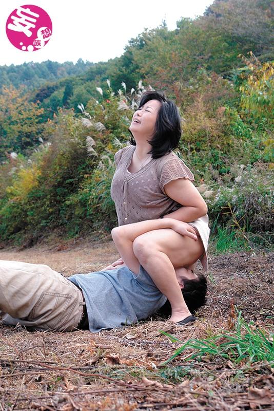 五十路の垂れ乳母ちゃんの膣に生中出し サンプル画像  No.7