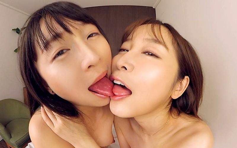 【VR】見せ付けレズ ~レズビアンのセックスは濃厚接吻から始まる~ 羽月希・篠田ゆう サンプル画像  No.8