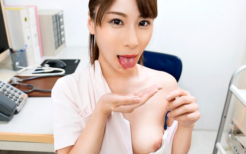 【VR】ドクター不在をいいことに患者を誘惑診断する淫乱ナース 橋本れいか サンプル画像 No.5