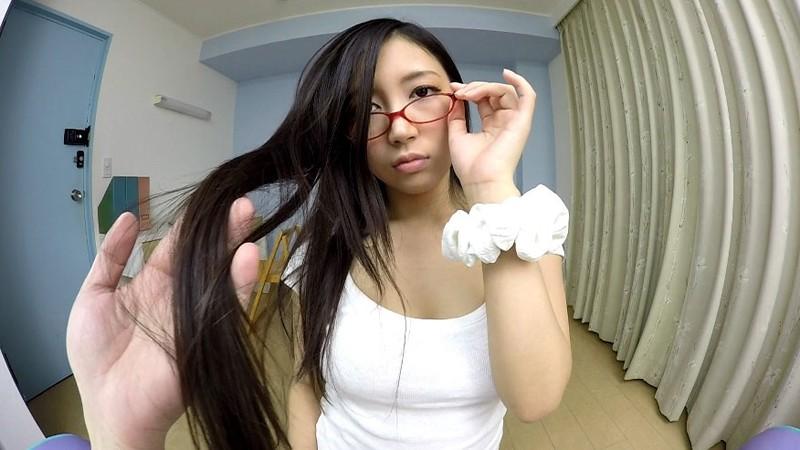 【VR】これからこの娘をハメ撮ります。黒髪眼鏡巨乳 ねね サンプル画像 No.5