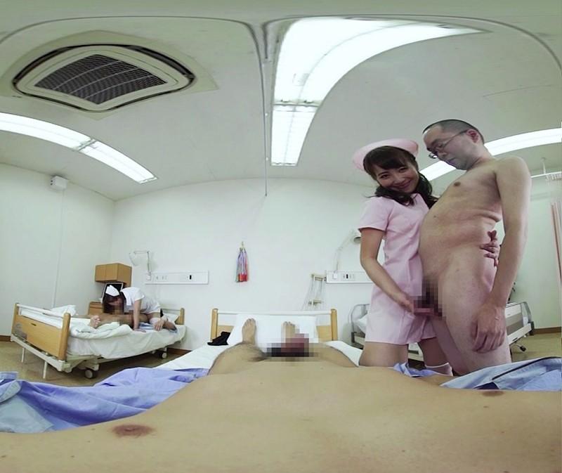 【VR】巷で噂のハレンチ美爆乳ナース中出しSEX病棟 倉多まお 共演:西條るり サンプル画像  No.3