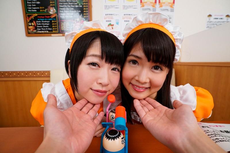 【VR】「お帰りなさいませ!ご主人様!」「もしよろしければ、生のおま●こでご奉仕させてもらってもイイですか?」アイドルの卵のカフェ店員の神すぎる対応で生中出しSEXが確定しちゃう!? 吉良いろは 山井すず サンプル画像 No.4
