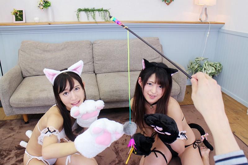 【VR】新感覚!初めての猫ミミカフェ! 飛びきりカワイイネコミミ少女達に大量中出し!星奈あい 渚みつき サンプル画像  No.3