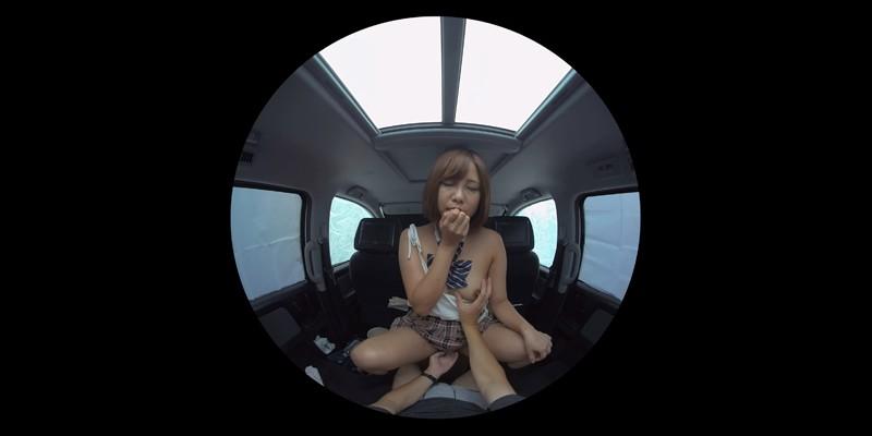 【VR】VR発情女子○生 クソ狭い車内でイヤラシイ身体を貪り合い肉食系カーセックスしまくりました 素人女子○生01ひなた サンプル画像 No.3