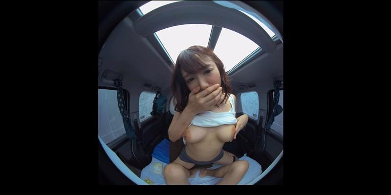 【VR】VR真夏の炎天下の狭い車内で汗だくになって肉食系カーセックスしまくりました 浜崎真緒 サンプル画像  No.1