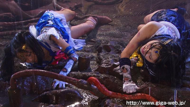 美少女Wセーラー戦士 壮絶!!ハードドミネーション触手地獄!!正義の結晶破壊 サンプル画像  No.3