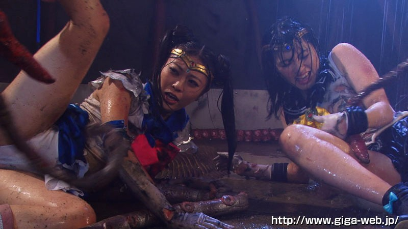 美少女Wセーラー戦士 壮絶!!ハードドミネーション触手地獄!!正義の結晶破壊 サンプル画像  No.4