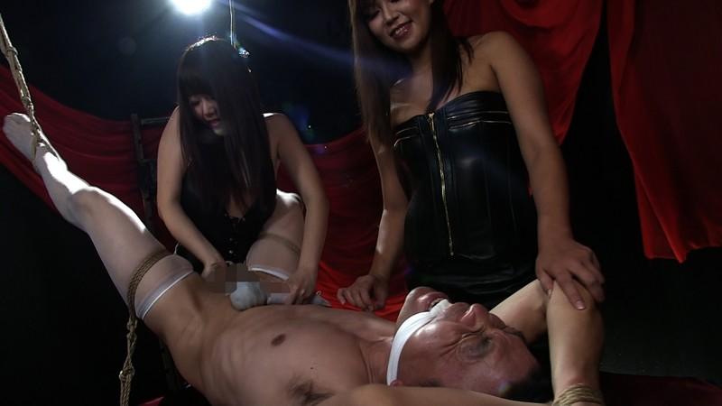 ウルトラM性感研究所 Vol.1 屈辱ケモノ拘束で乳首と肛門を弄ばれて 二人のドS姉さんに精子絞り出される男 サンプル画像  No.5