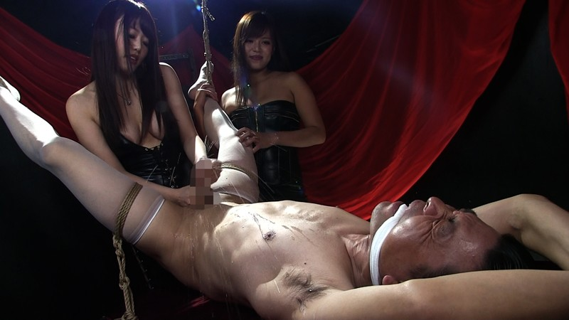 ウルトラM性感研究所 Vol.1 屈辱ケモノ拘束で乳首と肛門を弄ばれて 二人のドS姉さんに精子絞り出される男 サンプル画像  No.7