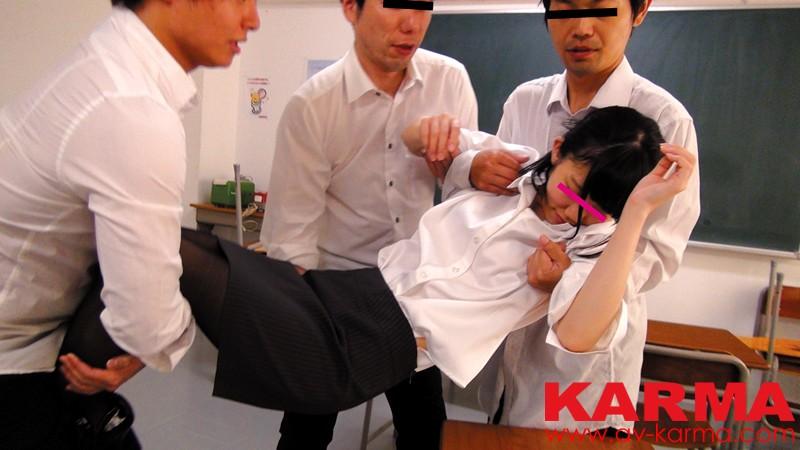 衝撃ネット流出! 教え子たちに犯される新任女教師昏睡レイプ動画 サンプル画像 No.1