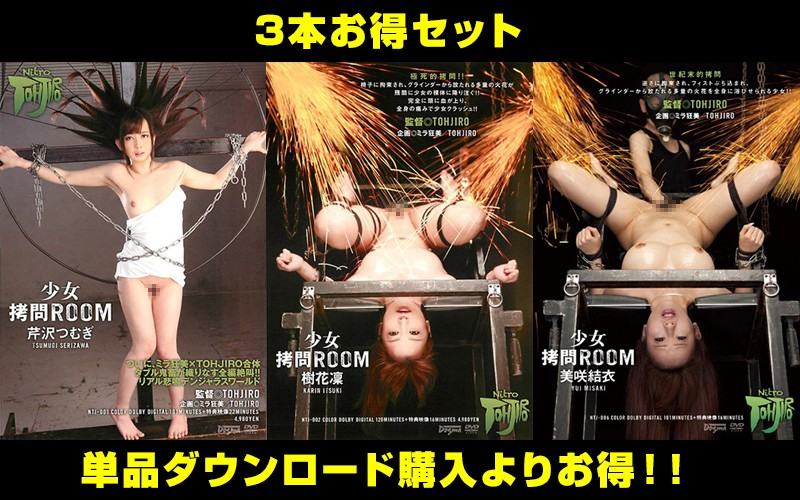 【お得セット】まとめて抜ける!少女拷問ルーム3本セット