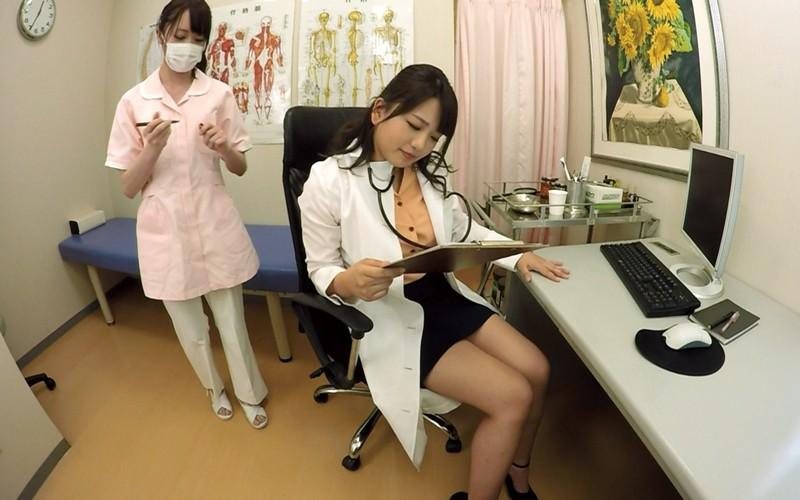【VR】近所で噂の美人女医さんにED(勃起不全)と嘘ついて診察してもらちゃった サンプル画像 No.1