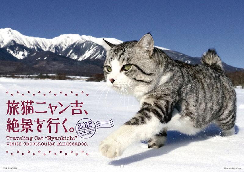 旅猫ニャン吉、絶景を行く。 2018年カレンダー