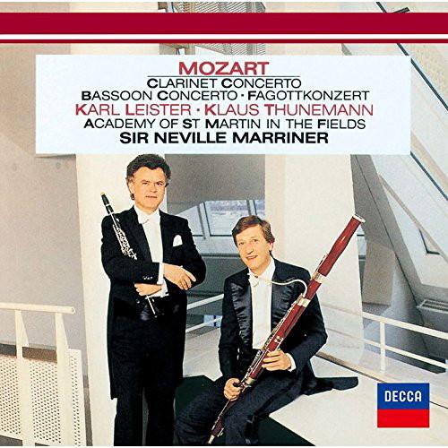 ライスター/モーツァルト:クラリネット協奏曲、ファゴット協奏曲、ファゴットとチェロのためのソナタ