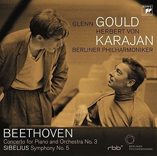 グールド&カラヤン/ベートーヴェン:ピアノ協奏曲第3番/シベリウス:交響曲第5番