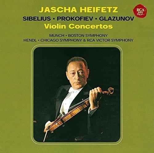 ハイフェッツ/シベリウス、プロコフィエフ&グラズノフ:ヴァイオリン協奏曲