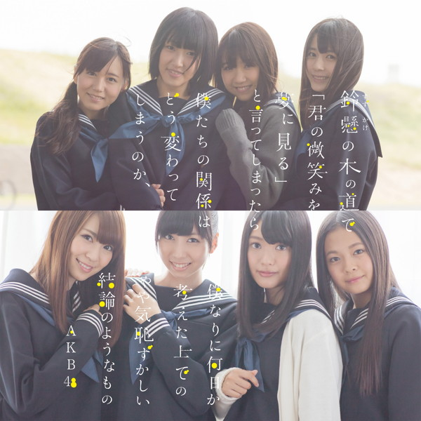 AKB48/鈴懸の木の道で「君の微笑みを夢に見る」と言ってしまったら僕たちの関係はどう変わってしまうのか、僕なりに何日か考えた上でのやや気恥ずかしい結論のようなもの(Type N)(DVD付)