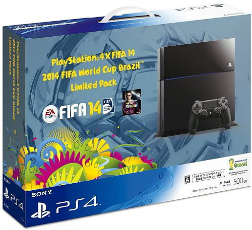 【本体】 PlayStation4×FIFA 14 2014 FIFA World Cup Brazil Limited Pack