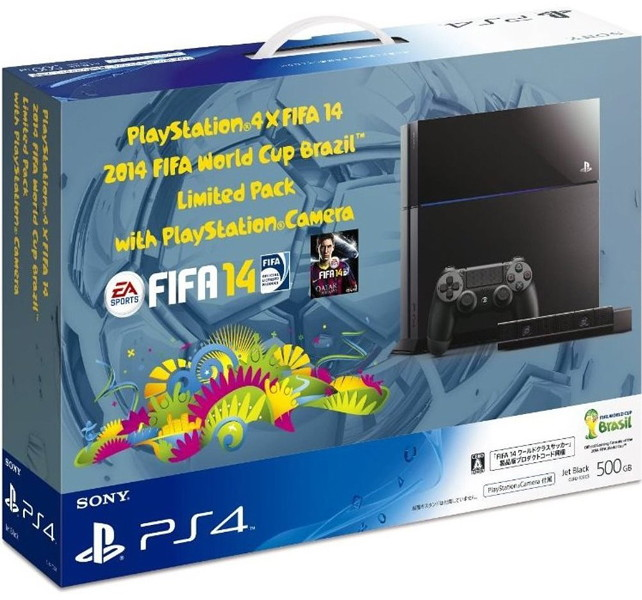 【本体】 PlayStation4×FIFA 14 2014 FIFA World Cup Brazil Limited Pack with PlayStationCamera