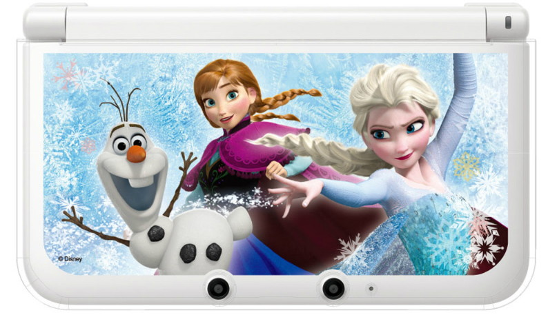 キャラプレカバー for ニンテンドー3DS LL アナと雪の女王 真実の愛をもとめて (クリア)
