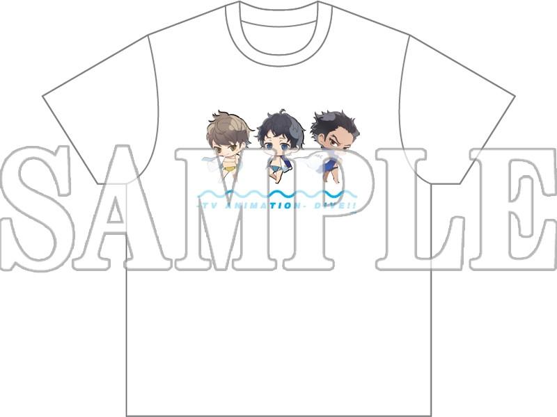 [Lサイズ]DIVE!! デフォルメキャラTシャツ