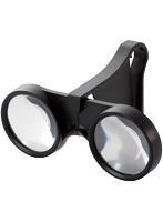 VRゴーグル/折りたたみコンパクトタイプ/ブラック